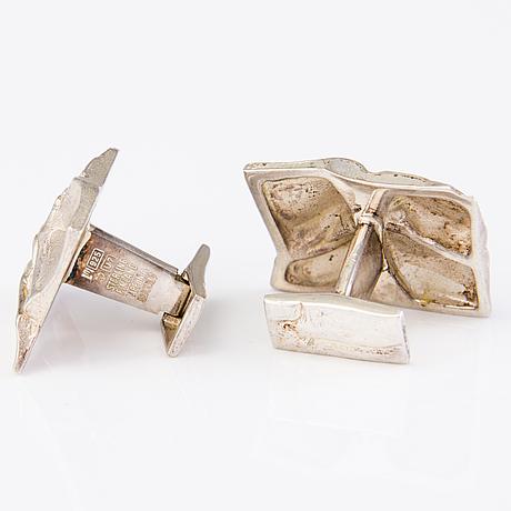 BjÖrn weckstrÖm, cufflinks, sterling silver, lapponia 1973.