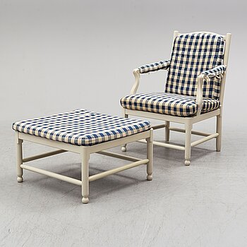 A pair of 'Medevi brunn' easy chairs by IKEA, late 20th century.