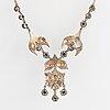 Collier, silver och rosenslipade diamanter.