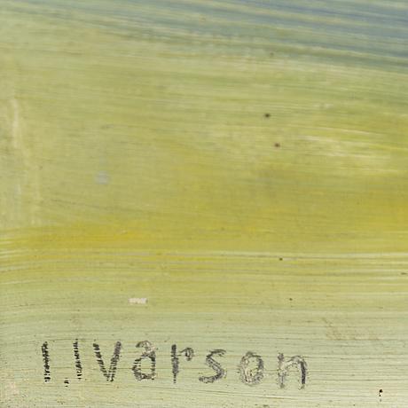 Ivan ivarson, oil on panel, signed.