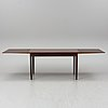 A rosewood veneered dining table, denmark, 1960's.