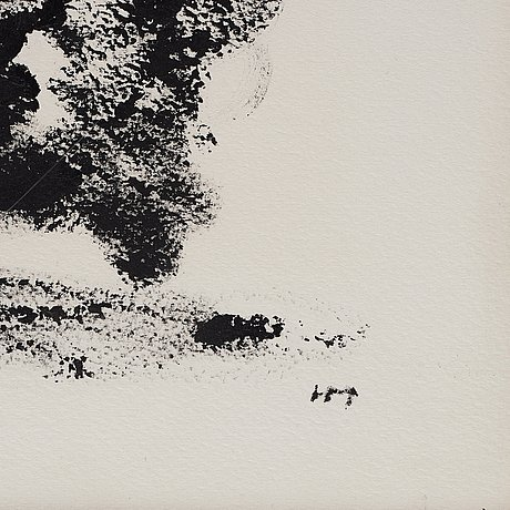 "Henri michaux, untitled from the serie ""arrachements""."