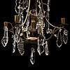 A 20th century rococo style chandelier.