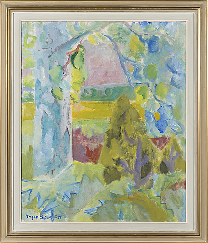 Yngve bÄck, oil on canvas, signed and dated -57.