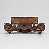 Dekorelement, målat gjutjärn, sent 1800-tal.