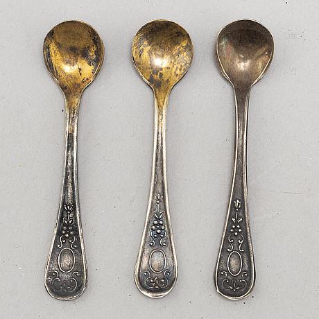 Saltkar, 6 st, delvis emaljerade, 1900-tal.