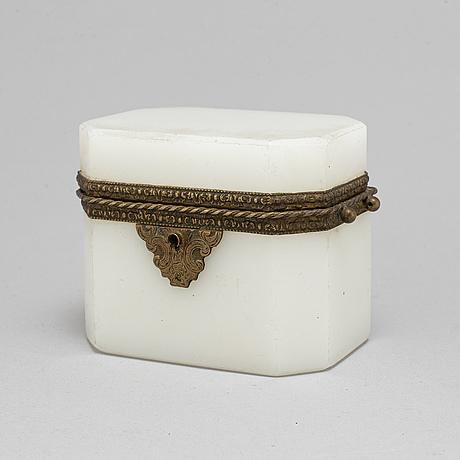 Skrin, glas och mässing, 1800-talets mitt.