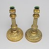 A pair of 19th century candlesticks.