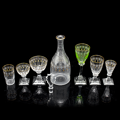 A part 'junior' glass service, kosta (74 pieces).