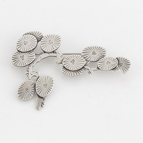 Wiwen nilsson, a sterling brooch of a cherry blossom branch, lund sweden 1953.