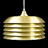 Hans-agne jakobsson, a model no 742 ceiling lamp, markaryd, second half of the 20th century.