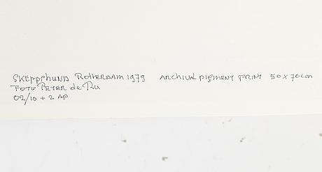 Peter de ru, archival pigment print, signerat, och numrerat 02/10+2ap a tergo.