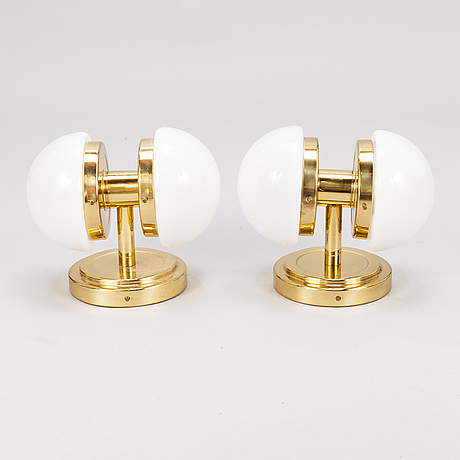 "Klaus michalik, a pair of wall lamps, ""bau"", stockmann orno, 1960s."