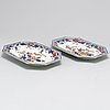 A pair of imari serving dishes, qing dynasty, 18th century.