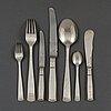 58 pieces of silver ware, 'rosenholm' jacob Ängman.