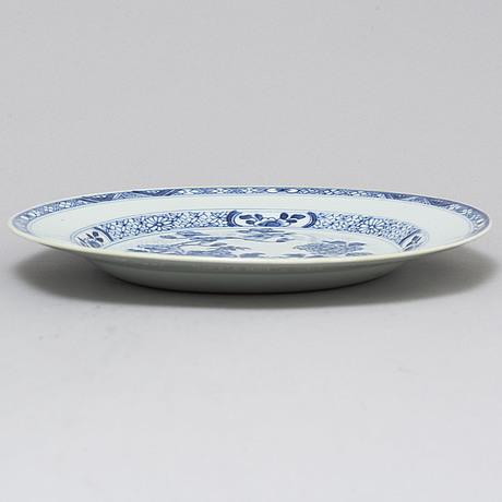 Tallrikar, sex stycken, kompaniporslin. qingdynstin, qianlong (1736-95).