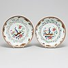 A pair of famille rose dishes, qing dynasty, yongzheng (1723-35).