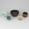 Four stoneware bowls from paalshus, saxbo, denmark.