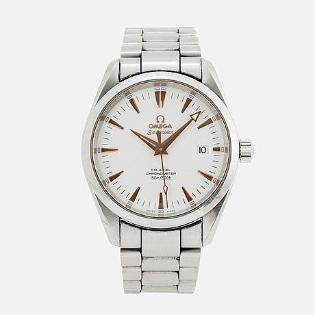 Omega, seamaster (150m/500ft), aqua terra, chronometer, armbandsur, 38 mm.