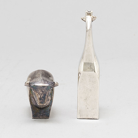 2 figurines, dansk designs, japan. one by gunnar cyrén.