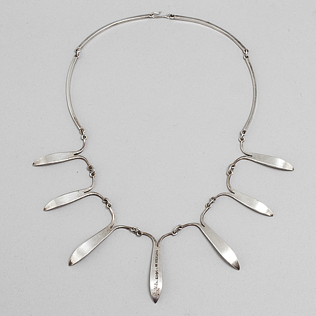 Rey urban, a sterling silver necklace, stockholm, 1963.