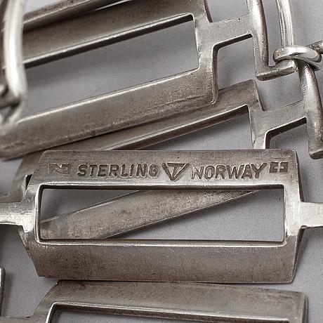 Tone vigeland, a sterling silver bracelet, norway, 1960's.