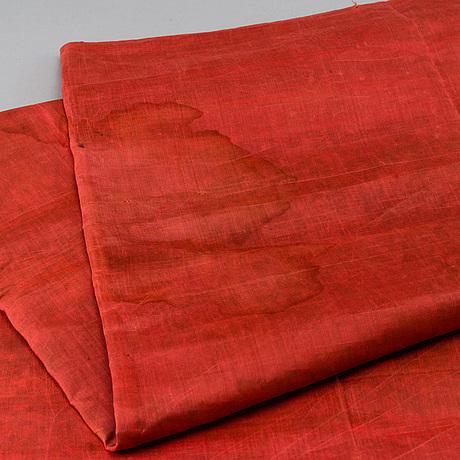 "A chinese silk ""100 boys"" silk blanket, late qing dynasty/early 20th century."