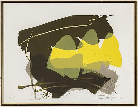 Ulla rantanen, lithograph in colours, 2013, signed 54/100.