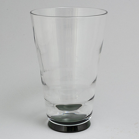 Vicke lindstrand, a glass vase, orrefors. the model designed in 1932.