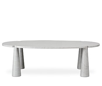 """41. Angelo Mangiarotti, a Cararra marble """"Eros"""" dining table for Skipper, Italy 1970-80´s."""