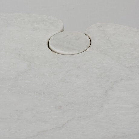 """Angelo mangiarotti, a cararra marble """"eros"""" dining table for skipper, italy 1970-80´s."""