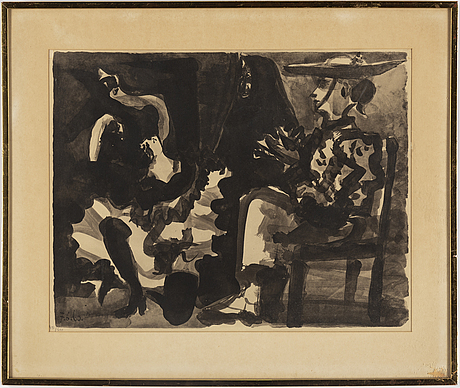 Pablo picasso, pochoir, signed in the print and numbered 391/500 in pencil.