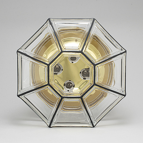 A glass celing light, second half of the 20th century.