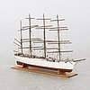 A model of the four masted sailing vessel hedrzogin cecilie, mariehamn, 20th century first part.