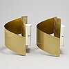 """A pair of """"band"""" wall lamps by peter celsing for falkenbergs belysning."""