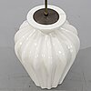 Ewald dahlskog, table lamp, ceramic, bo fajans, first half of the 20th century.
