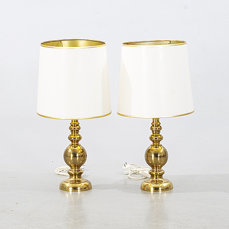 A pair of brass table lamps 1960-/1970's.