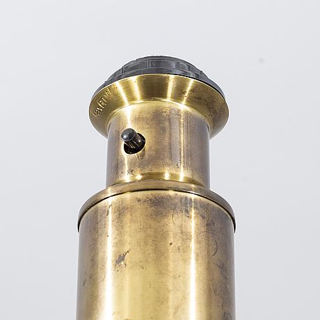 A pair of brass table lamps, kosta elarmatur, 1960's.
