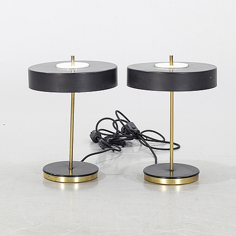A pair of table lamps, lustry kamenicky senov,  czech, second half of the 20th century.
