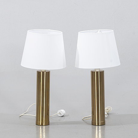 "Bergboms, a pair of table lamps, ""b-09"",second half of the 20th century."