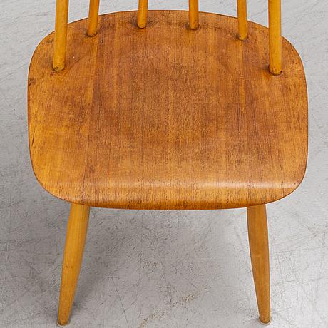 Ilmari tapiovaara, four 'fanett' chairs from edsbyverken.