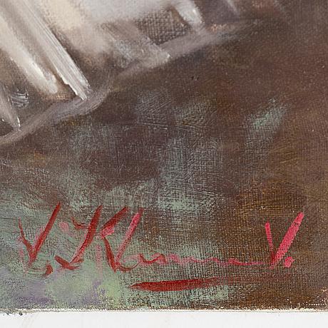Vjeteslaj kliuchnikov, oil on canvas, signed. dated 2009 verso.