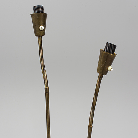 A 1940s/1950s brass floor light by asea.