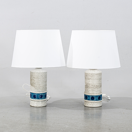 Bitossi, a pair of table lamps, second half of the 20th century.