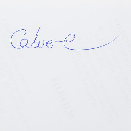 Torbjörn calvero, photograph of c wreswijk signed calvero on verso.