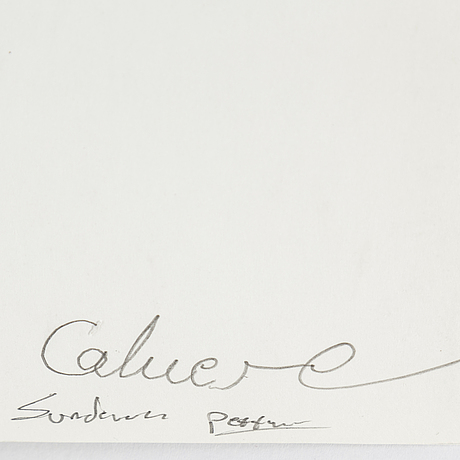 TorbjÖrn calvero, photograph of singer signed calvero on verso.