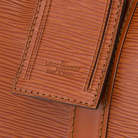 Louis vuitton, epi leather keepall 50 bag.