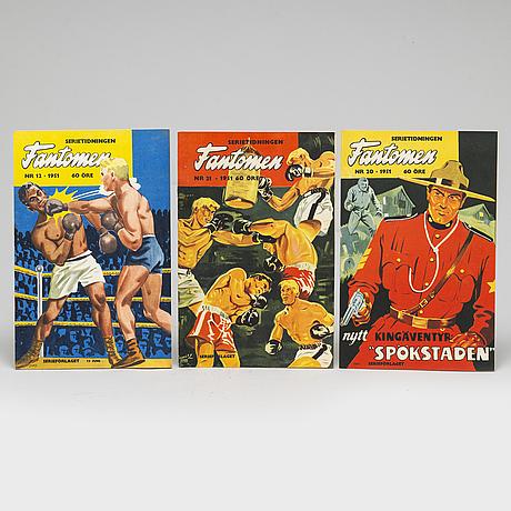15 fantomen serie magazines from 1951-1952.
