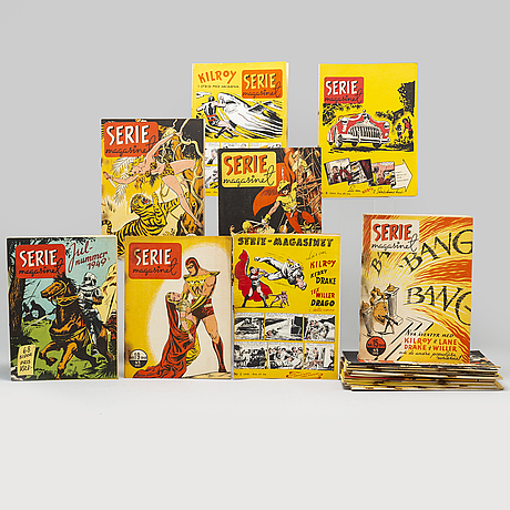 25 seriemagasinet magazines, 1949.