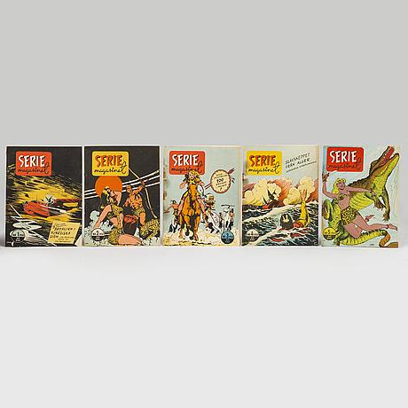 Seriemagasinet, serietidningar, 51 st, 1950.